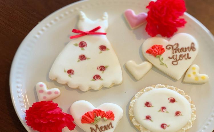ランチ付き母の日のアイシングクッキー