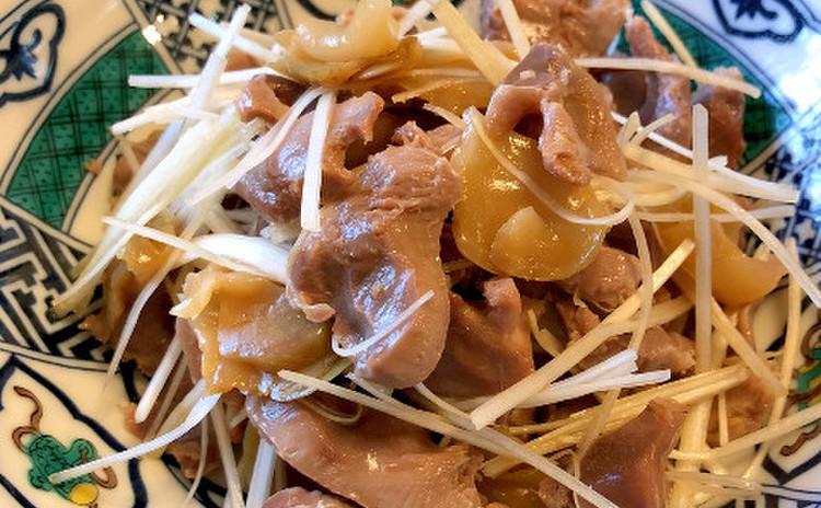 砂肝とザーサイのピリ辛和え