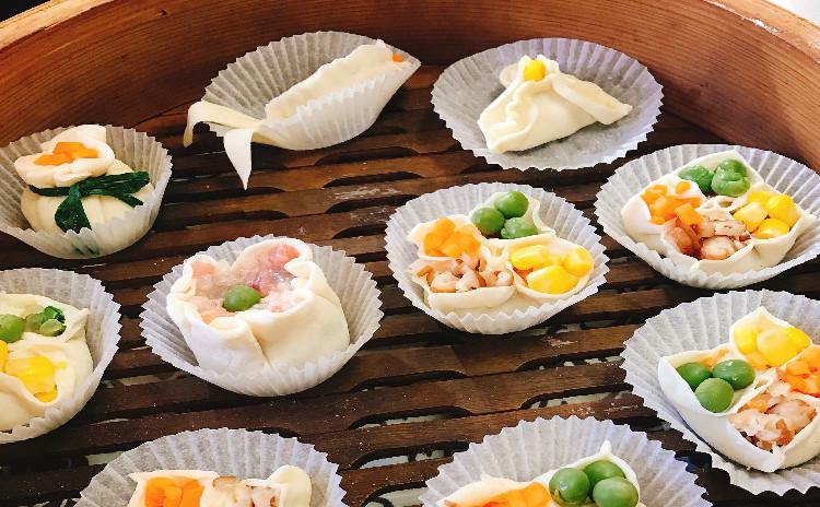 細工シュウマイ(四喜、金魚)と炊飯器で豉油雞など