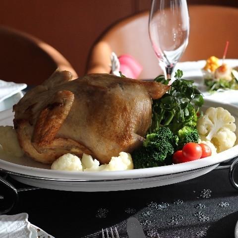 クリスマス中詰め鶏の丸焼き 前菜などなど