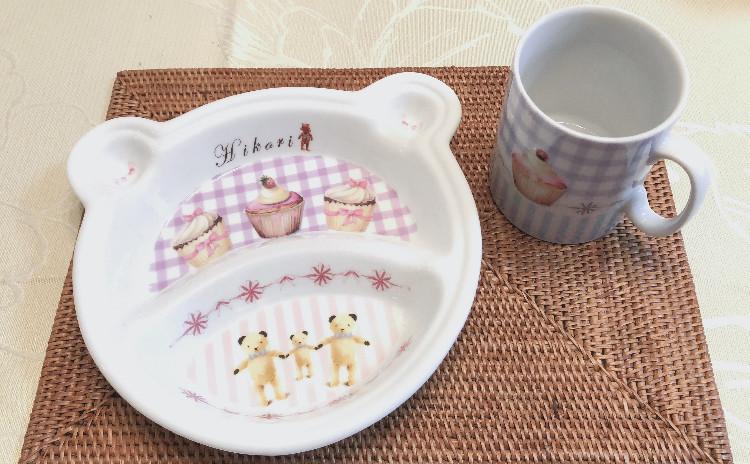【イニシャル入れ可!人気のベビー&キッズプレートレッスン♡】大切なお子様のために、ギフトに、可愛い食器をハンドメイド♡