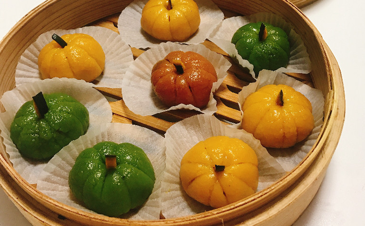カラフルかぼちゃ団子と中華レッスン