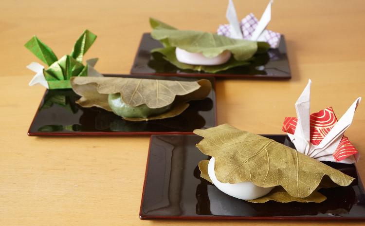 普段着の和菓子シリーズ『柏餅』 自家製レモンピール入り餡も絶品!