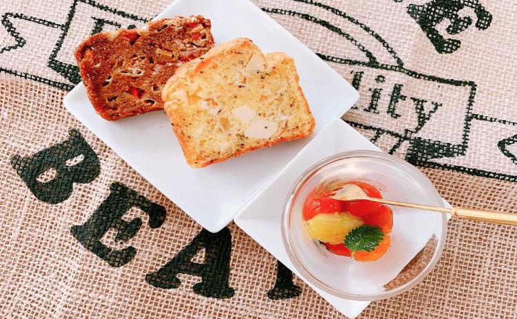 野菜たっぷり!「2種類のグルテンフリーパン&トマトミントマリネ(3品お持ち帰り)