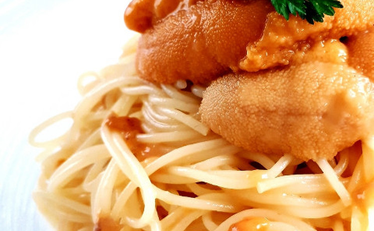 生ウニの冷製カッペリーニ(単品定価:13,000円)