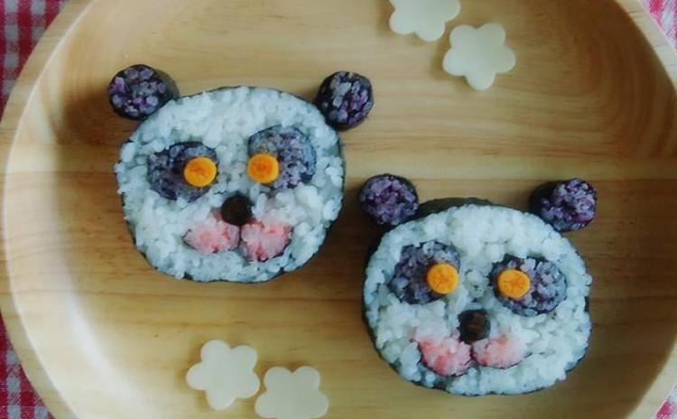 かわいいパンダの飾り巻き寿司を作ろう!
