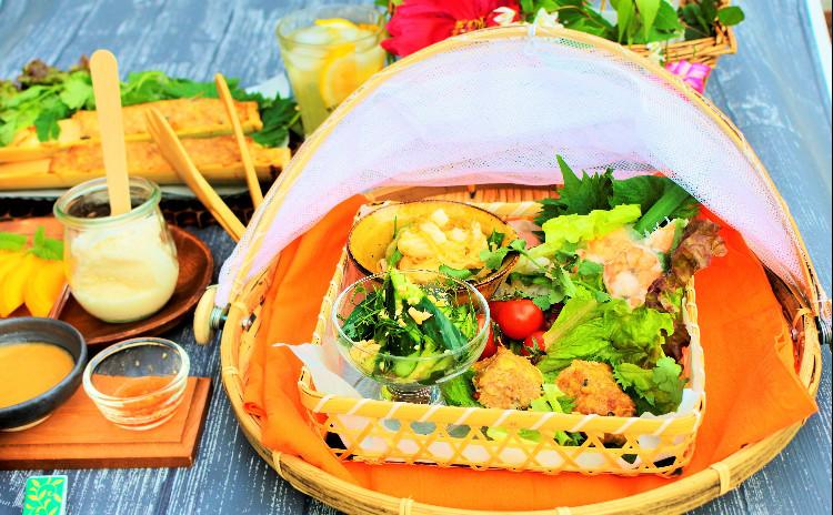 【1食600kcalごはん】  1人1杯イカをさばいて唐草切り♪  たっぷり野菜で大満足なナムプラーで作るはじめてのベトナムヘルシーごはん☆ 全6品