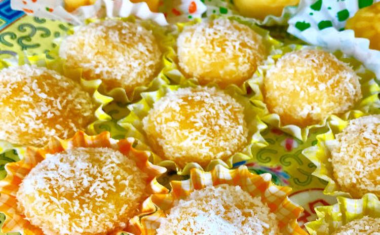 芒果糯米糍(マンゴー入りココナッツ団子)とマンゴーケーキ