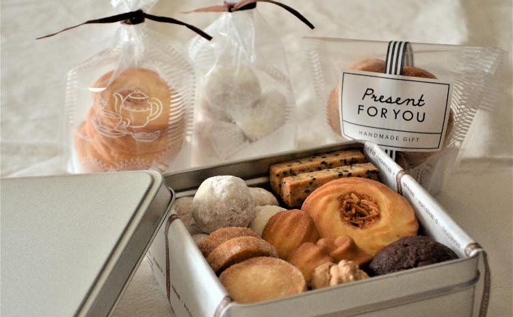 かわいい♡7種のこだわりクッキーを缶に詰めて! ラッピング付き手作りクッキー缶