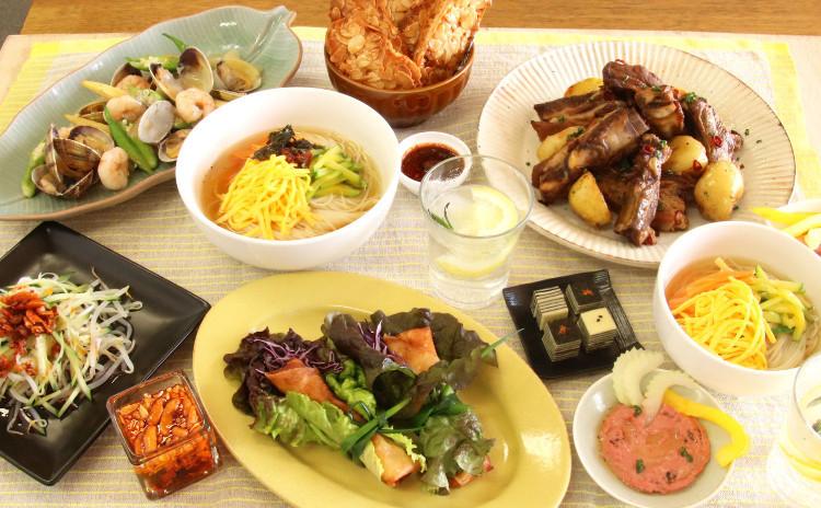 【7月】 各国料理で家飲み♪ おうちバル 〆は韓国麺♡