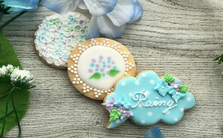 梅雨の憂鬱を吹き飛ばそう!アジサイアイシングクッキー