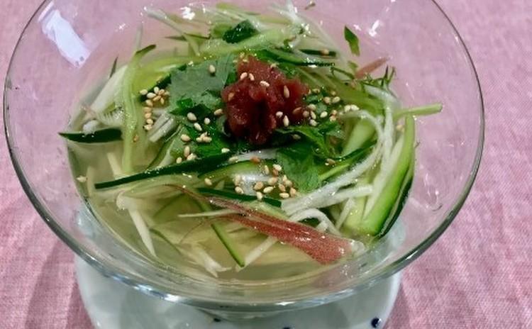香味野菜の冷たいお吸い物