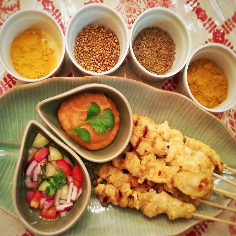 ガイ・サテ 鶏肉のサテ& ピーナッツソース