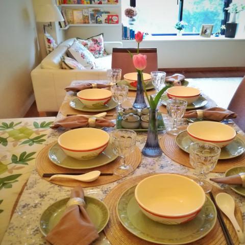 春のテーブルコーデイネート