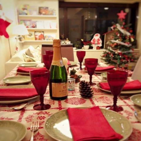 クリスマスのテーブルコーデイネート