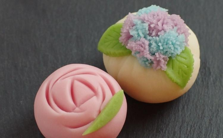季節の『練り切り』和菓子レッスン:紫陽花とバラ
