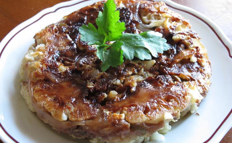 イタリア風タコ飯、カリフラワーのアッフォガート、メレンゲのケーキ