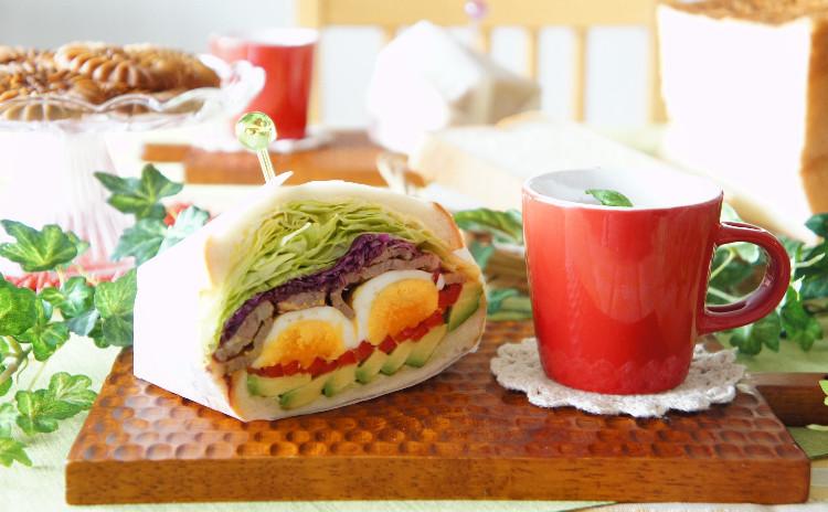 *しっとりモチモチ♪次の日にも柔らかい湯種食パンでサンドイッチ&リングクッキー*