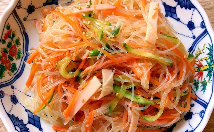 黄金比のタレで中華春雨サラダ