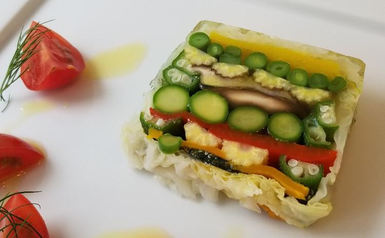 新鮮夏野菜で創作フレンチ