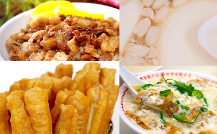台湾の屋台料理大集合!魯肉飯&油条&塩豆乳&豆花