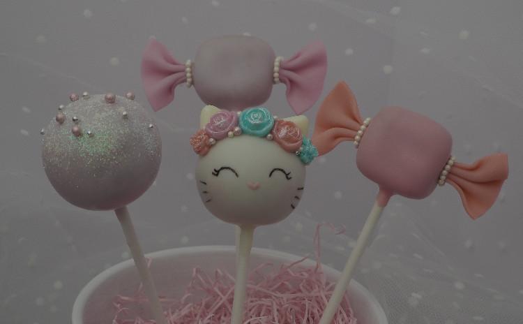 ケーキポップス講座♡キャンディー猫ちゃん(いちごミルク味)
