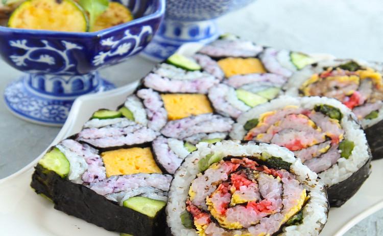5分でできる巻き寿司☆断面の綺麗な飾り寿司レッスン( お土産付き )