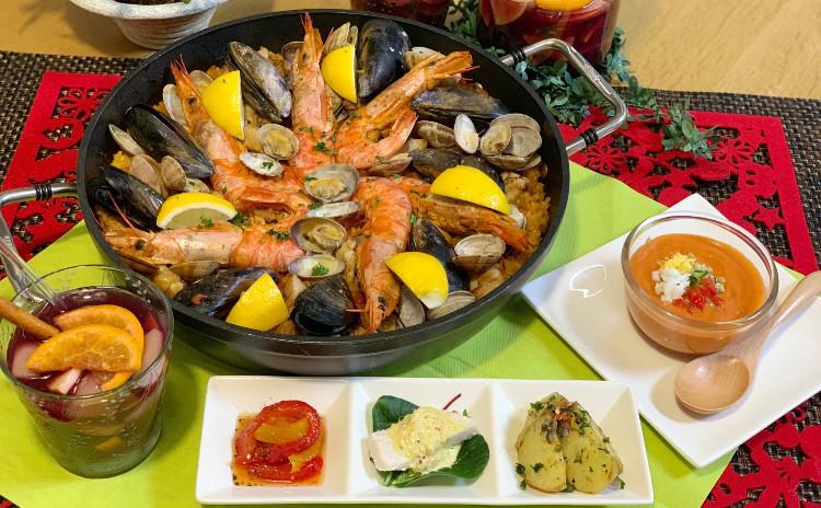 ヘルシー!お酒にも合う!スペイン料理5品「パエリアをフライパンで簡単につくろう」