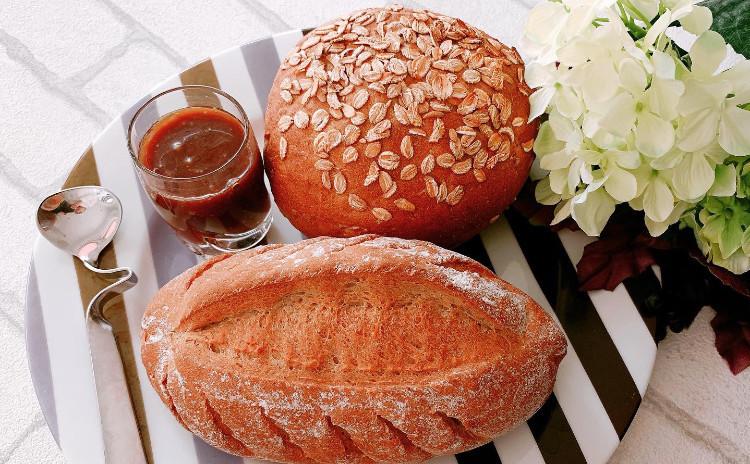 「低GIセット」2種類のサワー種ライ麦パンと花蜜ミルクジャム(3品お持ち帰り)
