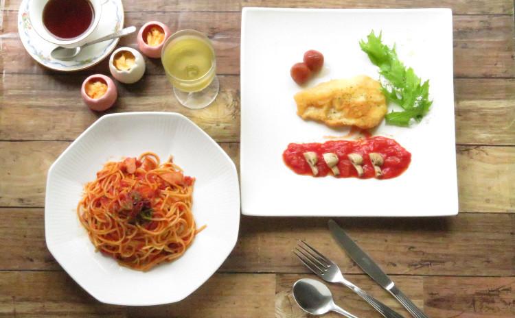 【お店直伝】パスタソースのお土産付き!イタリアンのコース料理:魚のベニエ・アラビアータ・白サングリア・ハニーマンゴージェラート