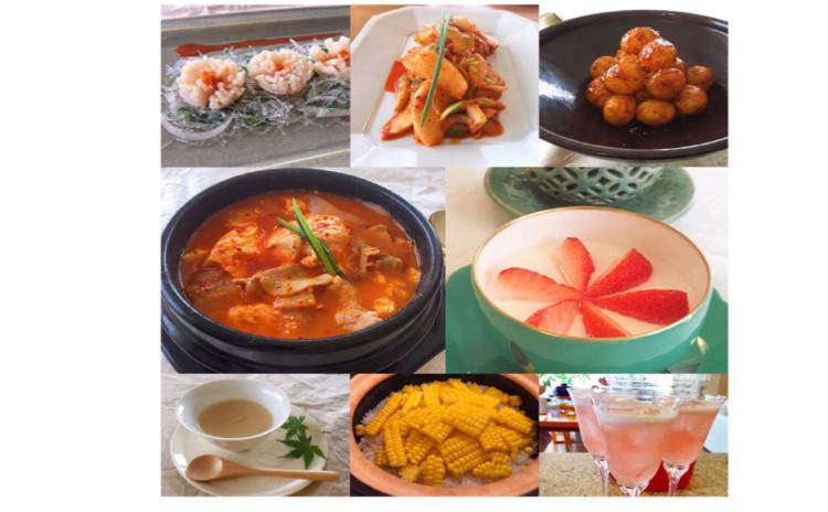 夏の韓国家庭料理
