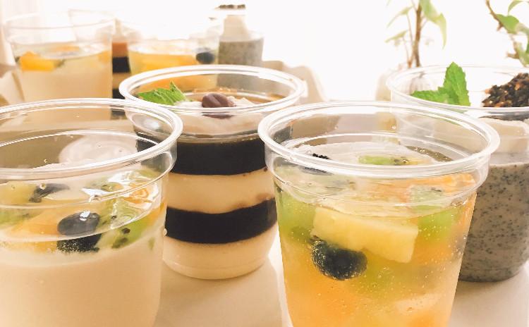 夏を満喫!4種のゼリー♫ #レアチーズ#黒ごまのブランマンジェ&チュイール#コーヒー&ミルクゼリー#サイダーゼリーをマスターしましょう!!