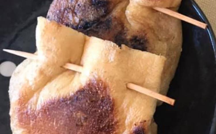 サバの味噌煮の巾着