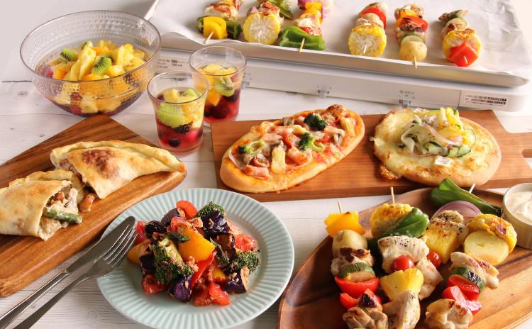 1日限定【8月】生地から手作り!ピザ・カルツォーネ・夏野菜づくしの彩りおもてなしメニュー