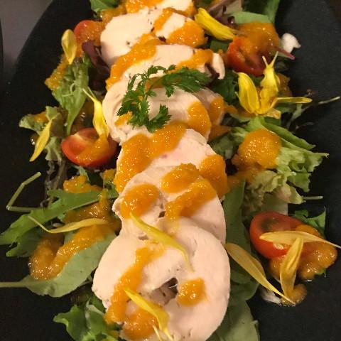 鶏ハムロール オレンジソース