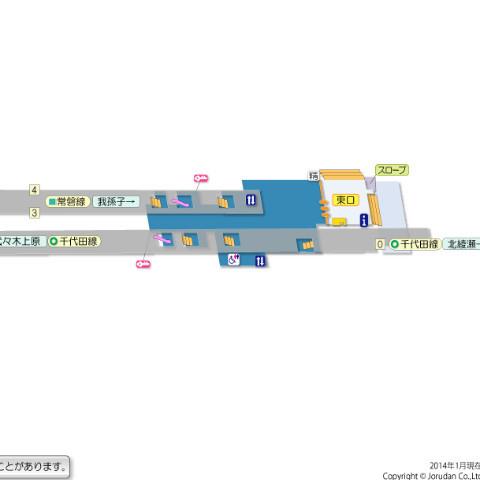千代田線・綾瀬駅☆東口