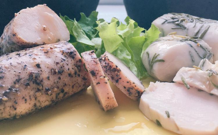 こねないパン「チャバタ」。手作り鶏ハムとサンドして食べよう!