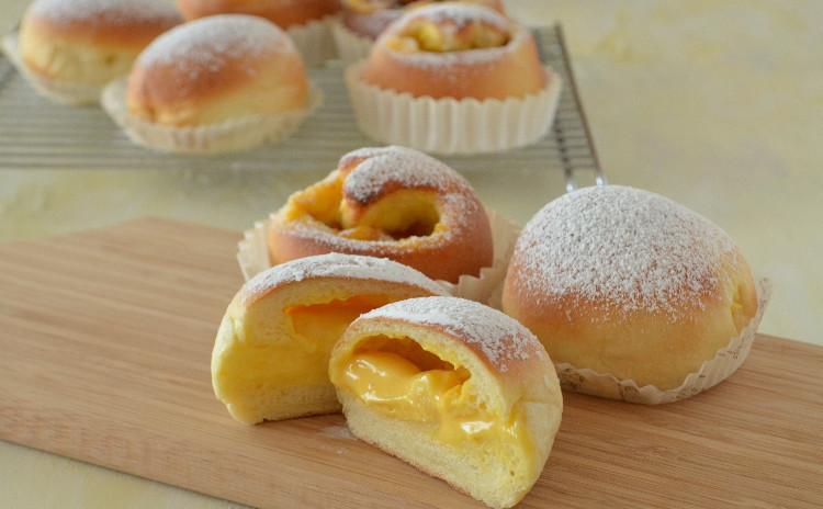 冷やしクリームパン! レーズンクリームロール&レモンクリームパン ランチ付き