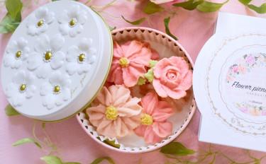 【ギフト缶付き】さくさくほろほろ♪お花のぼうろ