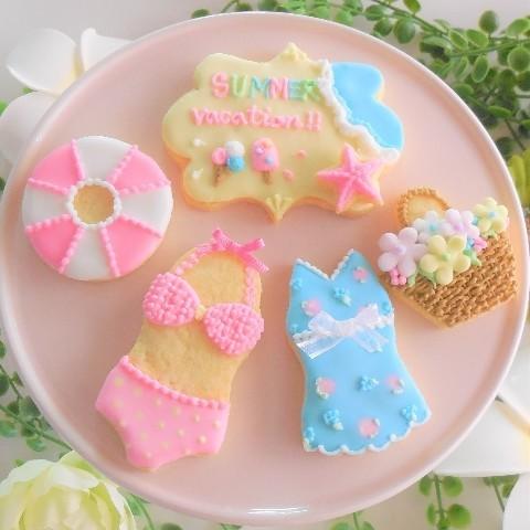 アイシングクッキー(夏)