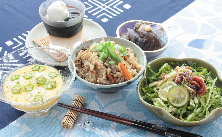 体に沁み込む夏の元気!炊き込みご飯と、ひんやりじんわり美味しいおかず。真夏のヘトヘト、回復献立!
