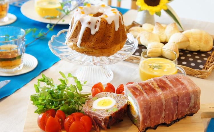 夏休みにもデリご飯♪みんな大好き♪「メロンパン」&「クグロフ」&「ミートローフ」