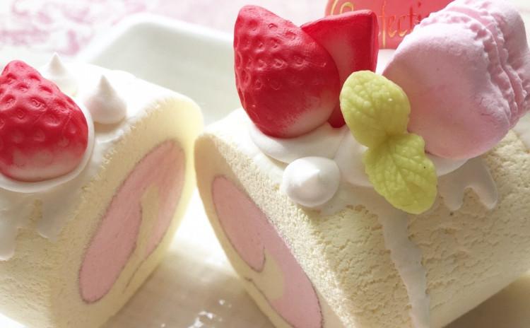 可愛いロールケーキ♡