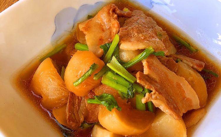 かぶと豚バラのほっこり煮!