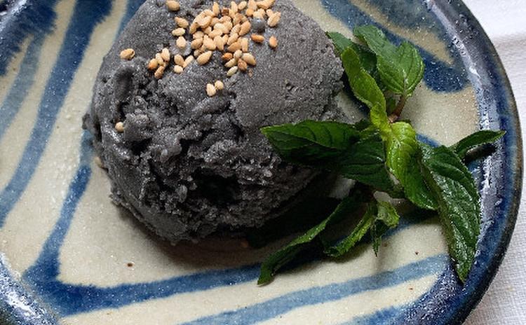 黒ゴマ豆乳アイス