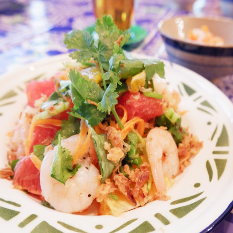 柑橘類のベトナムサラダ