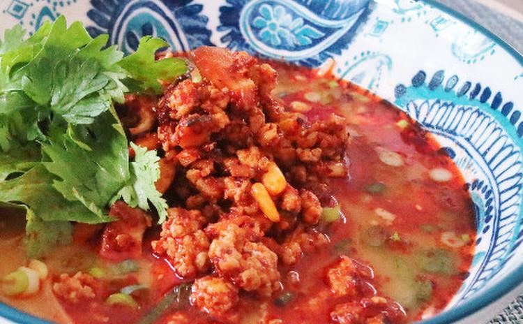 肉ラー油を使った坦々麺