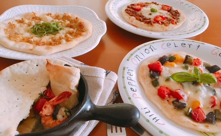 ホシノ酵母で作るラタトゥーユピザ・ジャコピザ・サバ缶とトマトのピザ&アヒージョピザ生地付