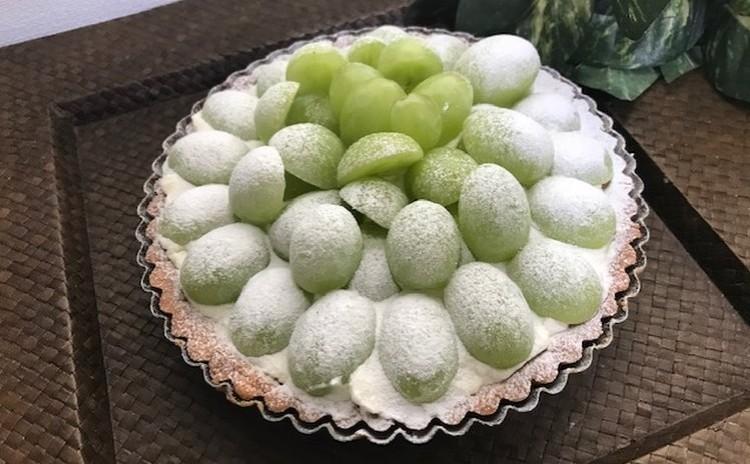 「葡萄のクリームチーズタルト」秋の味覚のタルト(16㎝丸タルト1台)