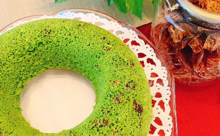 米粉の小松菜ケーキ